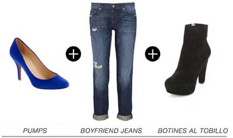 Jeans y zapatos