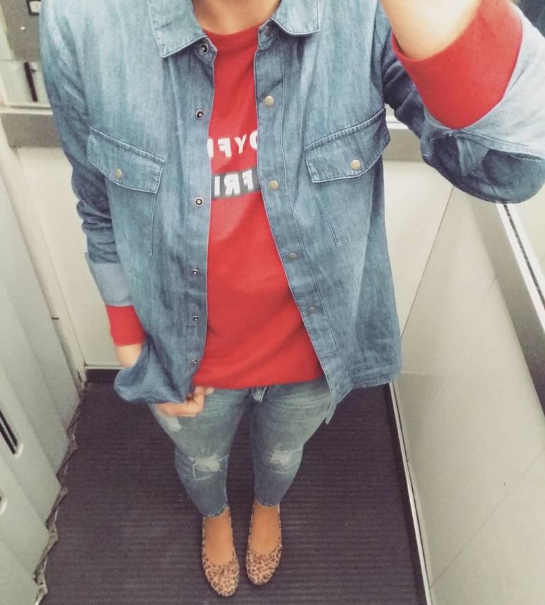 Jean con color