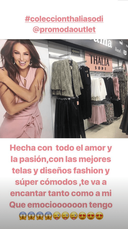 Thalía post