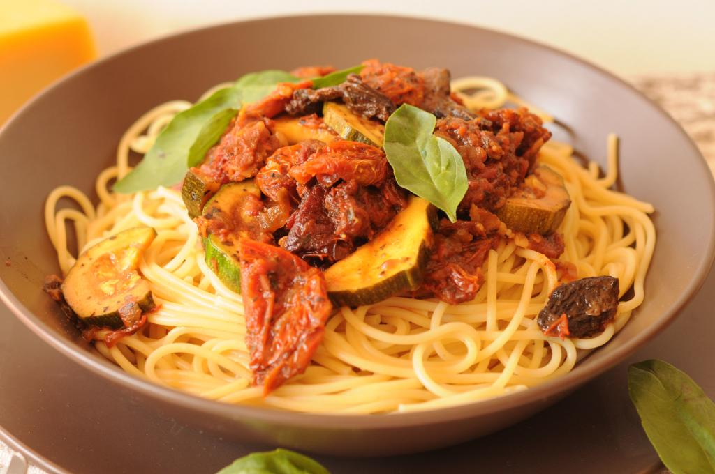 spaghetti con salsa de rocoto