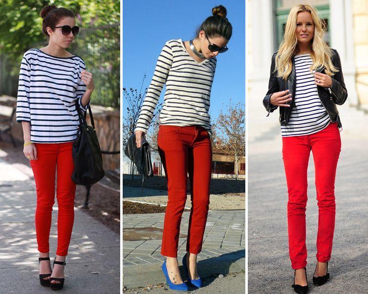 Como Combinar Un Pantalon Rojo Y Vestir Con Estilo Aqui Te Lo Contamos Outfit Look Tendencias Moda Y Belleza Wapa Pe