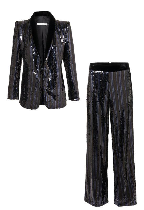 blazer y pantalón de lenjuelas
