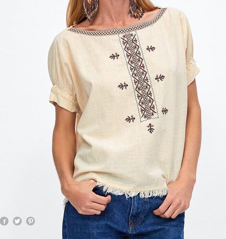 blusa pechera bordada