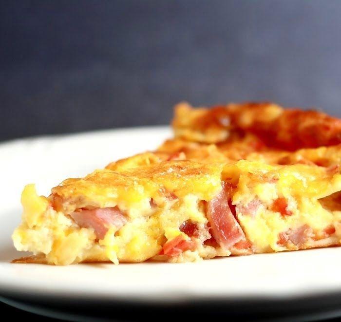 quiche de jamón y queso suizo