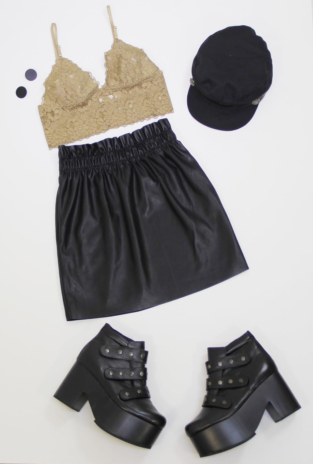 falda y bralette