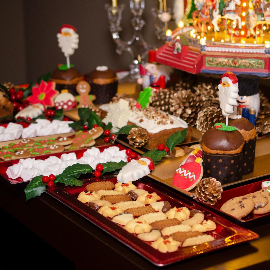 decoración de cena navideña