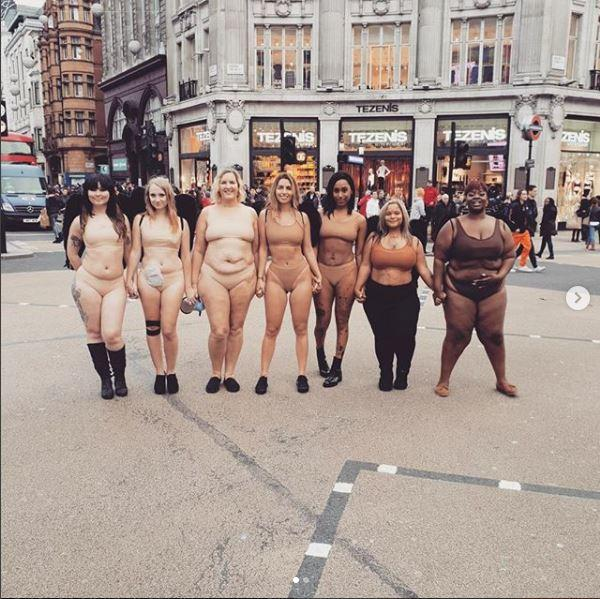 mujeres curvy protesta
