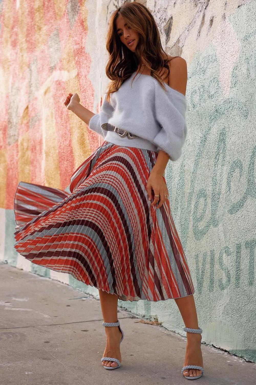 falda midi para fiestas