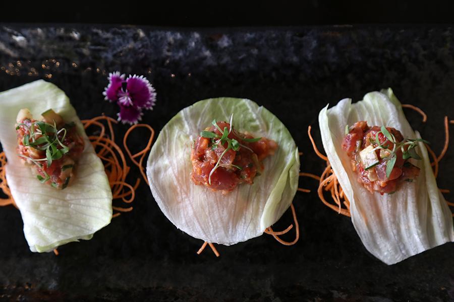 Tacos de atún spicy