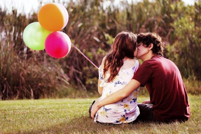 pareja felices