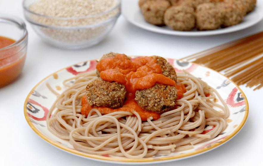 albóndigas de lentejas, quinoa y avena