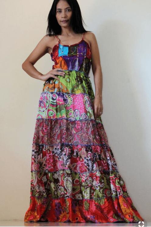vestidos patchwork