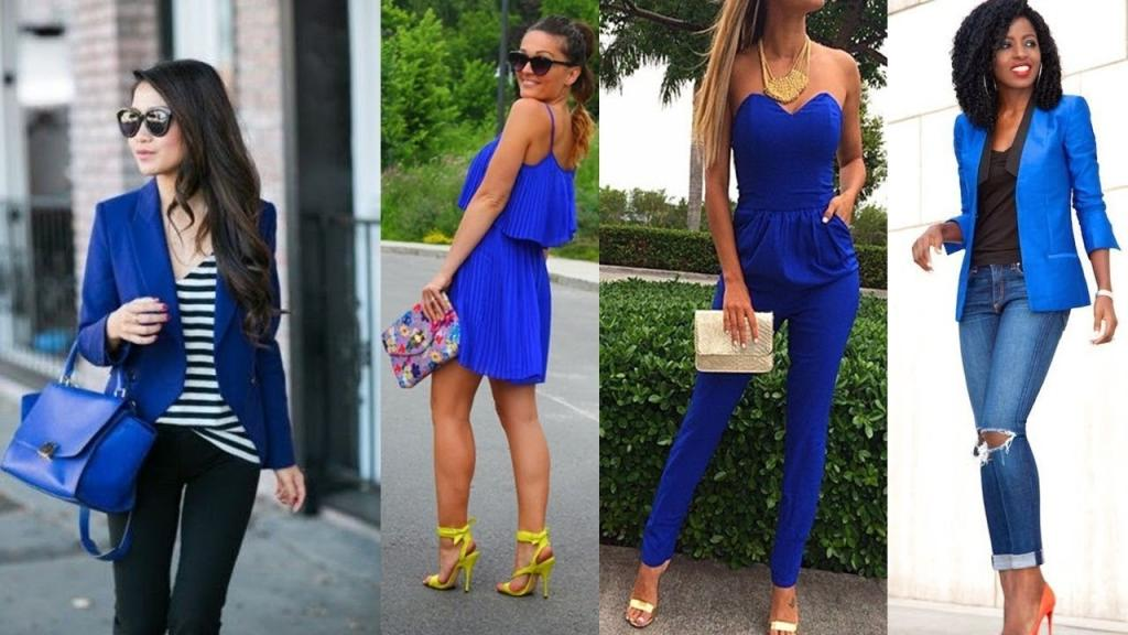 outfit de color azul