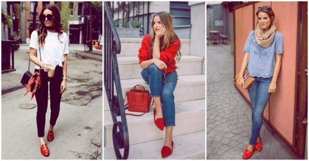 zapatos rojos para San Valetín