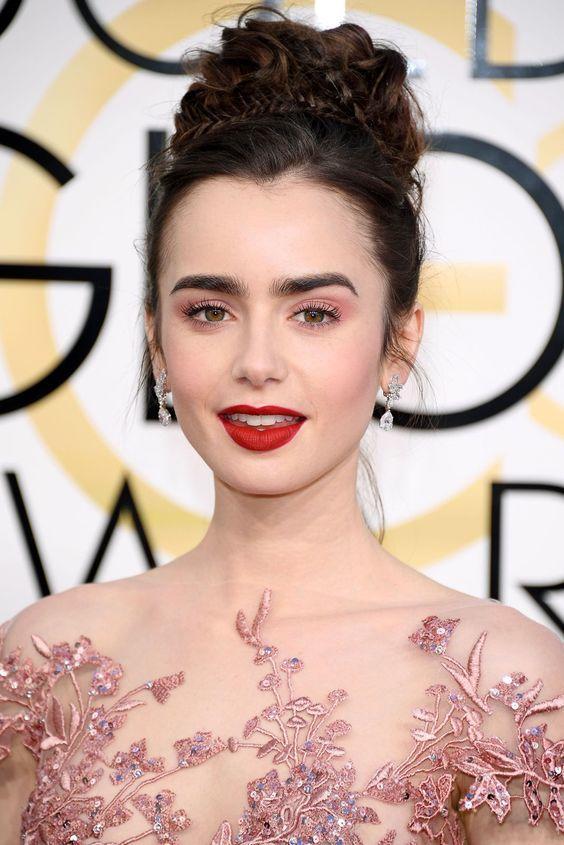 maquillaje san valentín lily collins