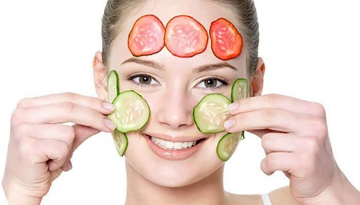 mascarilla de pepino y tomate