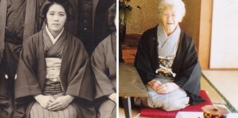 Kane Tanaka antes y después
