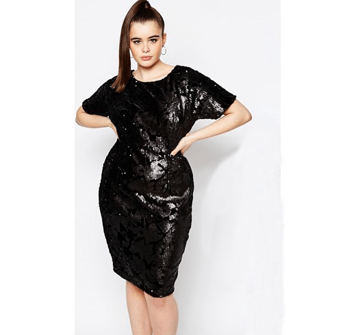 vestido negro con lentejuelas