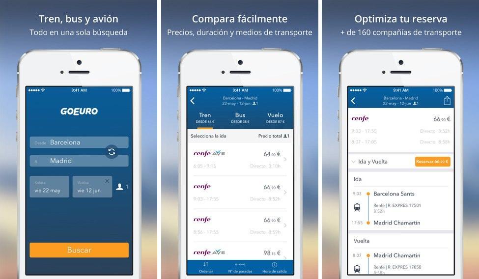 GoEuro App metabuscadora de viajes