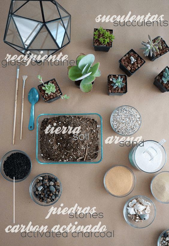Materiales terrario
