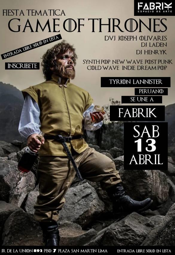 La Fabrika Game Of Thrones Party
