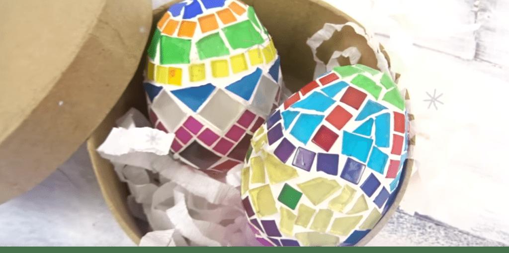 Huevos mosaico Semana Santa Pascuas
