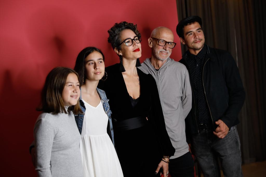 Francesca Brivio y familia
