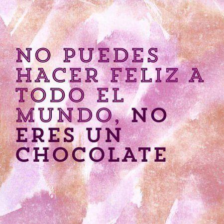 Chocolate Frases Instagram humor