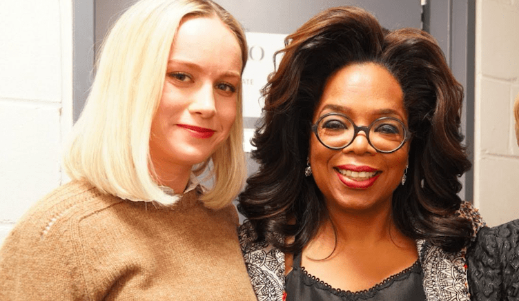 Brie Larson y Oprah Winfrey