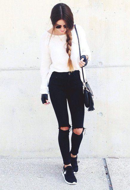Jeans De Moda Outfits Con Jeans Rasgados No Son Tan Urban Style Como Crees Outfit Con Jeans Pantalones Rasgados Moda 2019 Moda Y Belleza Wapa Pe