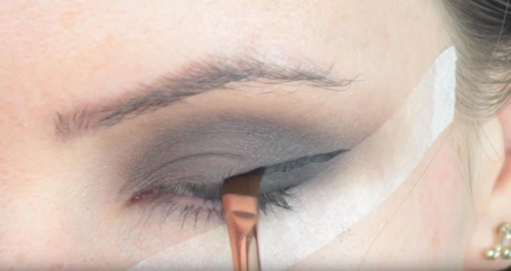 maquillaje de gato con glitter