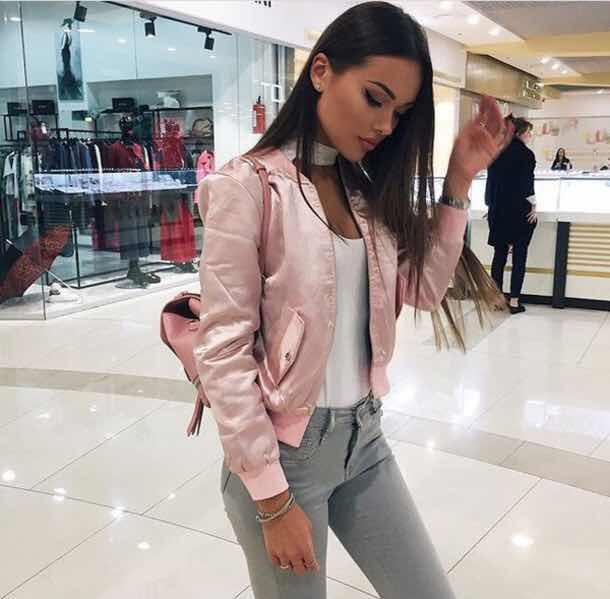 bomber jacket rosa