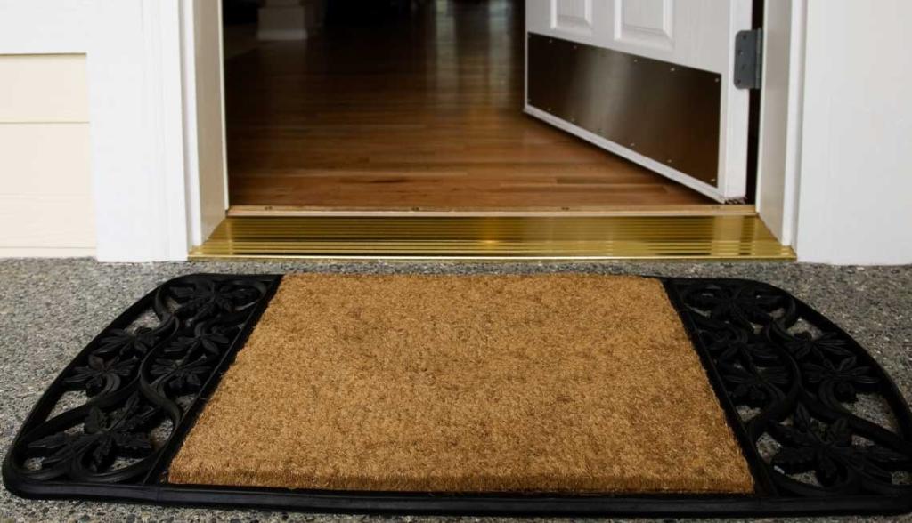 Entrada casa tapete
