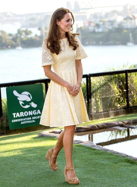 kate middleton outfit amarillo tendencias de moda