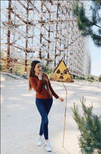 Influencers en Chernóbil
