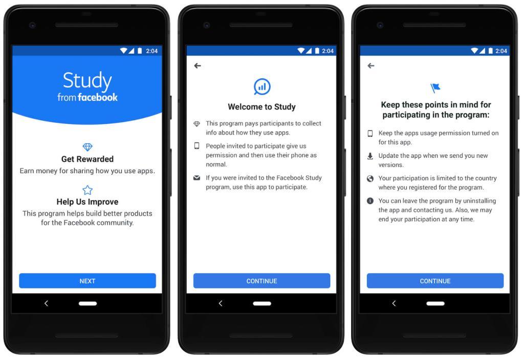 Facebook Study recopilación de datos
